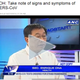 DOH informs public of symptoms of the MERS-CoV