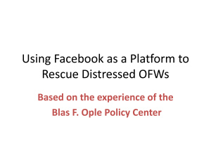 Using Facebook as a Platform to Rescue Distressed OFWs