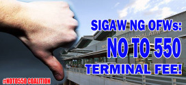 OFW groups, NGOs welcome TRO against integration of terminal fees issued by Pasay city judge