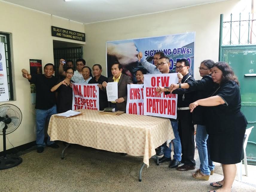 OFW groups and advocates seek TRO vs. integrated airport terminal fee