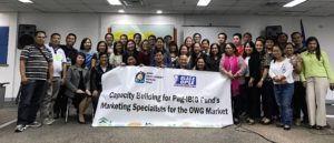 First Batch of Capacity Building for Membership Services Branch (MSB) Marketing Point Persons (MPP) on OWGs/Kasambahay November 17-18, 2016 18th Floor Petron Mega Plaza